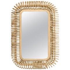 French Design Rattan Mirror