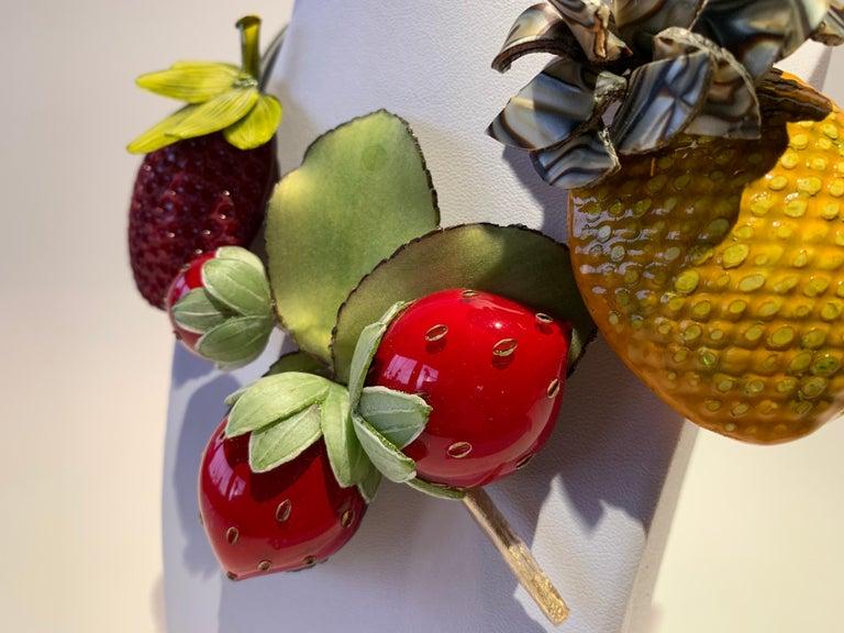 Women's French Designer Fruit Statement Necklace