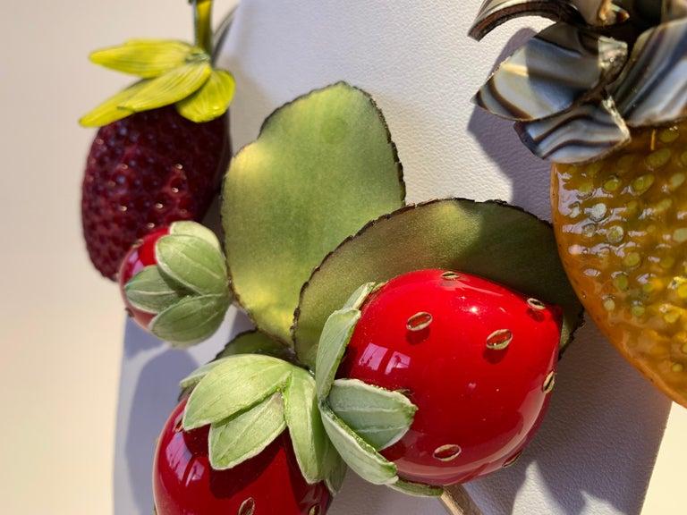 French Designer Fruit Statement Necklace  1
