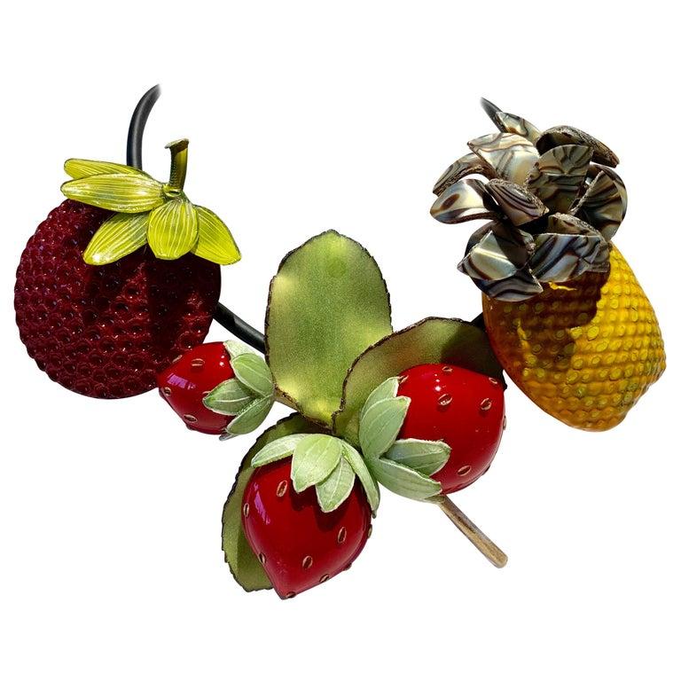 French Designer Fruit Statement Necklace