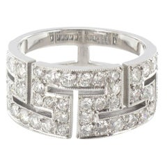 French Diamond Gold Band Ring