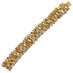 French Diamond Gold Bracelet