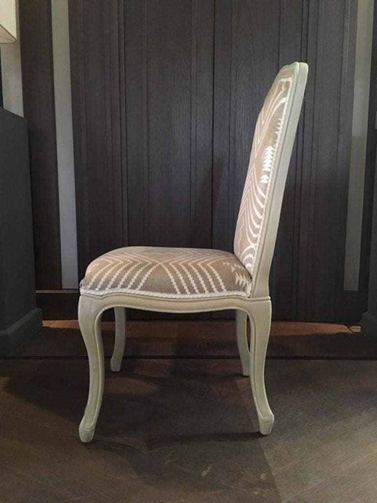 French Dining Chairs Andrew Martin Fabric Upholstered Ecr 249