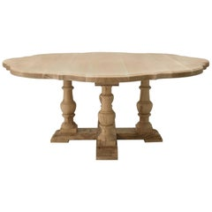 French Dining Table Custom Made Handcrafted Clover Design to Your Specifications