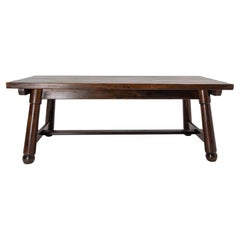 French Dining Table in the Swiss Alp Style, circa 1960