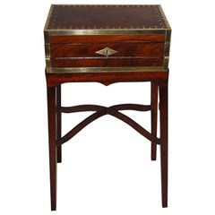 French Directoire Double Opening Brass Inlaid Writing Box Now on Bespoke Stand