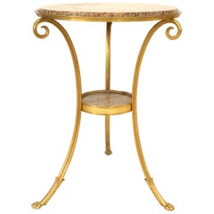 French Directoire Gilt Bronze End Table