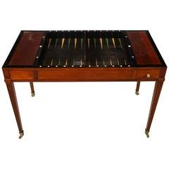 French Directoire Mahogany Backgammon Table