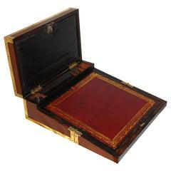 French Directoire Mahogany Double Opening Writing Box with Coromandel Interior