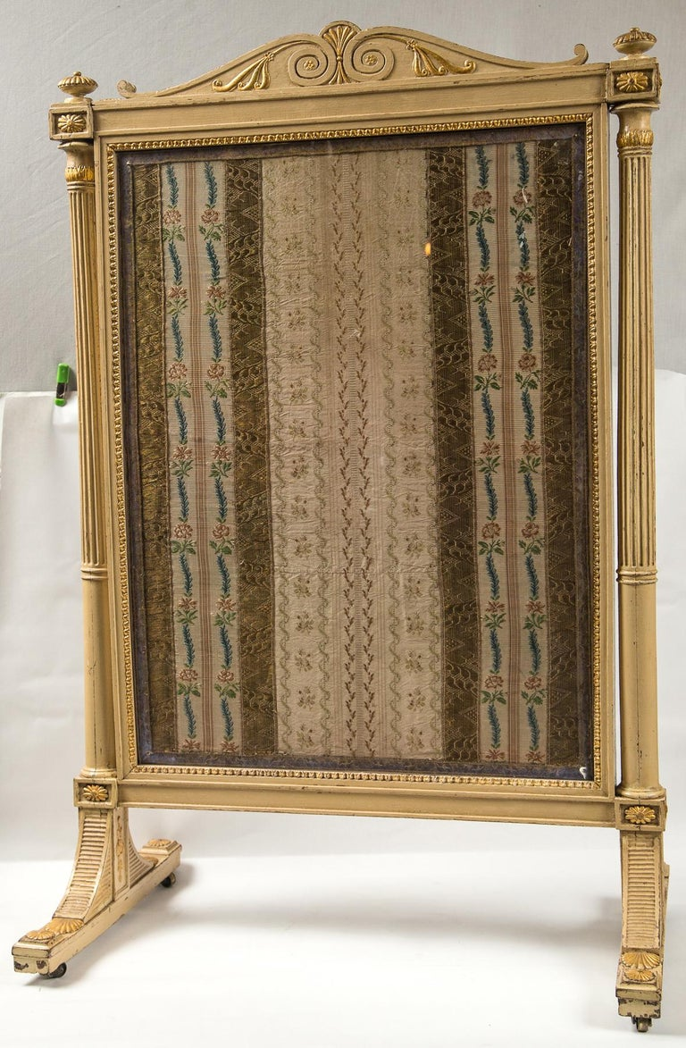 French Directoire Painted Fire Screen For Sale 2
