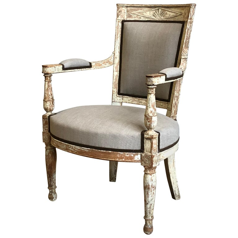 French Directoire Period Armchair, circa 1800 For Sale