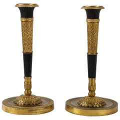 French Directoire Period Pair of French Candlesticks, circa 1798