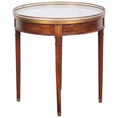 French Directoire Style Bouillotte Table with Carrera Marble