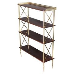 French Directoire Style Gilt Metal Mounted Étagère Shelves