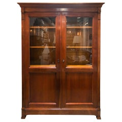 French Directoire Style Glass Front Cabinet
