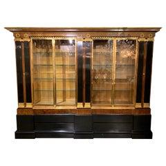 French Directoire' Style Mahogany and Ebony Display Cabinet
