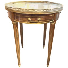 French Directoire Style Mahogany Bouliotte Table with Mirrored Top