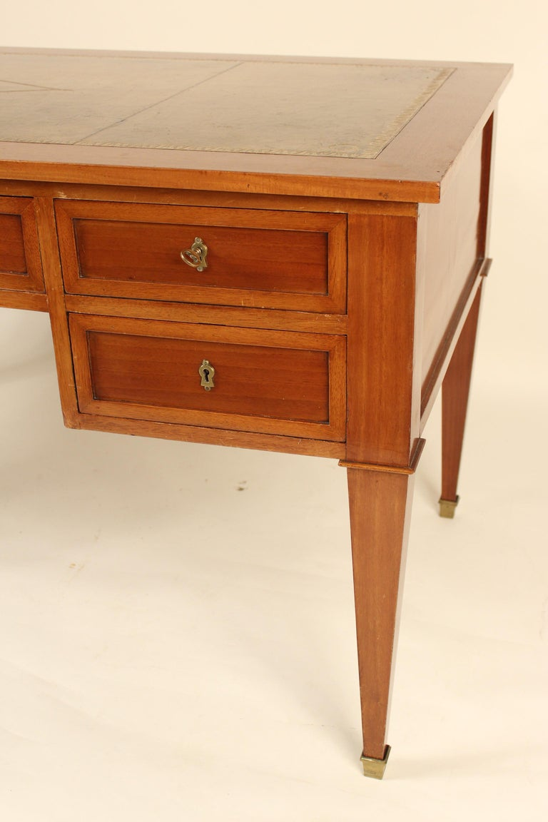 French Directoire Style Mahogany Desk For Sale 5