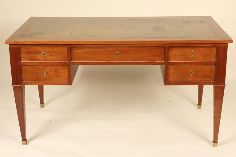 French Directoire Style Mahogany Desk For Sale 1