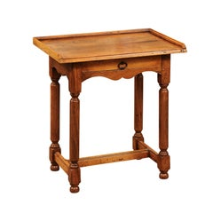 French Directoire Style Walnut Side Table, circa 1890