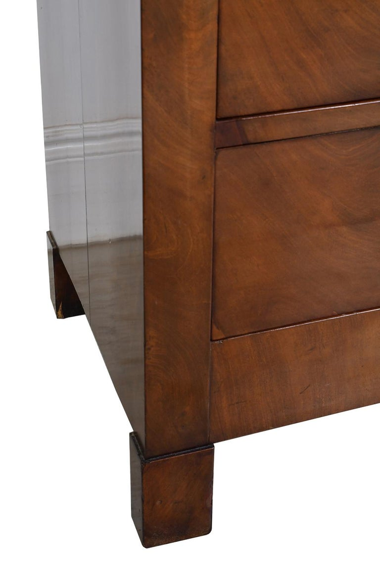 French Directoire West Indies Mahogany Chest of Drawers with Black Marble For Sale 10