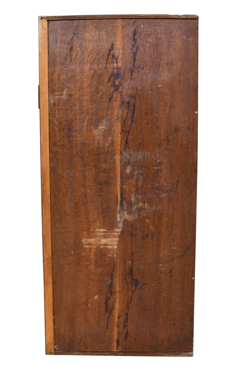 French Directoire West Indies Mahogany Chest of Drawers with Black Marble For Sale 14