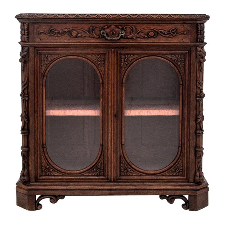 French Display Cabinet or Chest of Drawers from circa 1880