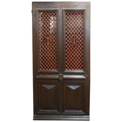 French Door with Iron Lattice, circa 1860