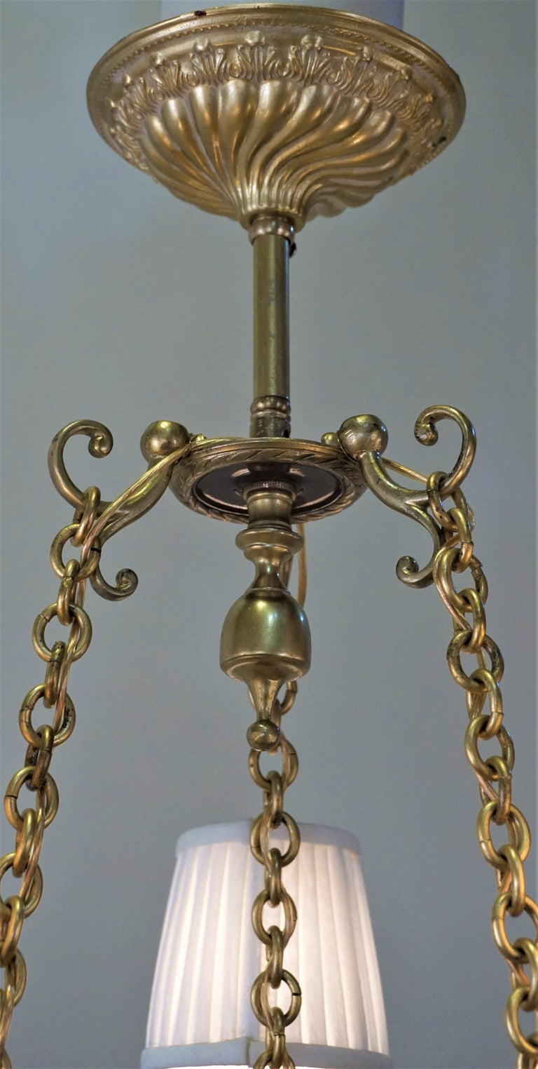 French Doré Bronze Early 20th Century Empire  Style Chandelier For Sale 1