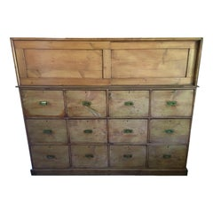 French Drapery Makers Campaign Cabinet, circa 1900s