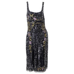 French dress Gatsby Inspired by Blumarine Couture, Original Label 1990s