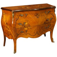 French Dresser in Inlaid Wood from 20th Century