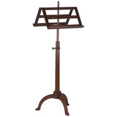 French Duet Music Stand in Walnut, Early 1900s