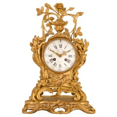 French Early 18th Century Louis XV Period Ormolu Clock