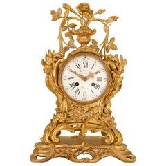 French Early 18th Century Louis XV Period Ormolu Clock