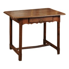 French Early 18th Century Oak Side Table