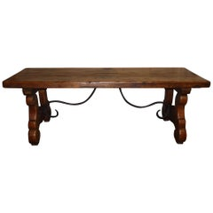 French Early 18th Century Trestle Table