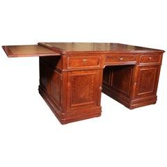 French Early 19th Century Partner Desk in Mahogany