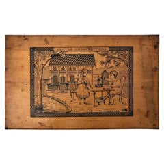 French Early 1900s Wooden Construction Game, Beautiful Architectural Details