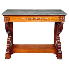 French Early 19th Century circa 1830 Neoclassical Style Console Table