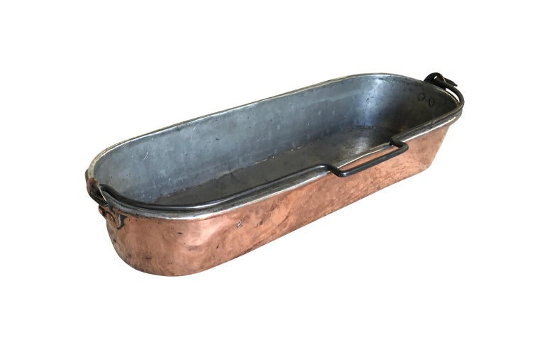 French Early 19th Century Copper Fish Pan In Good Condition For Sale In Atlanta, GA
