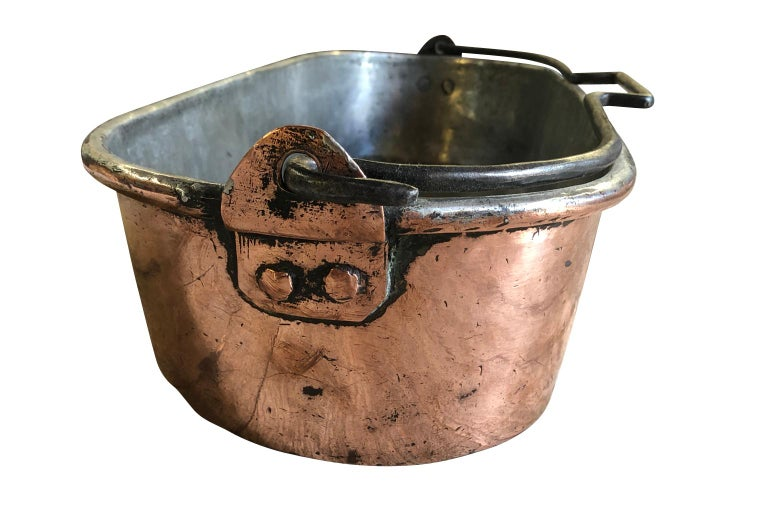 French Early 19th Century Copper Fish Pan For Sale 2
