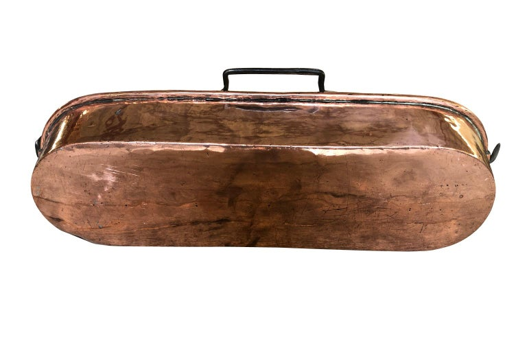 French Early 19th Century Copper Fish Pan For Sale 4