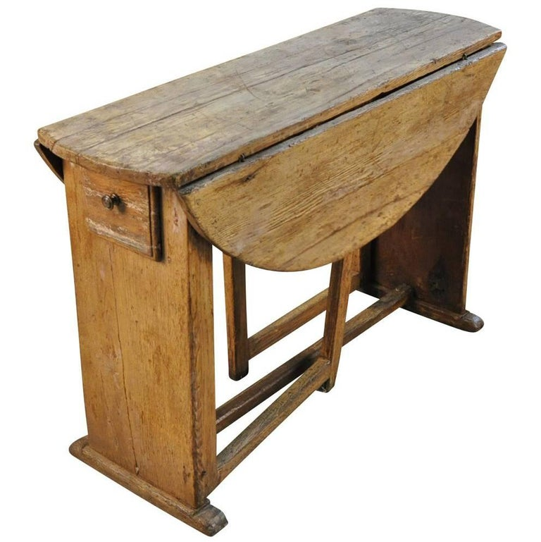French Early 19th Century Drop-Leaf Table