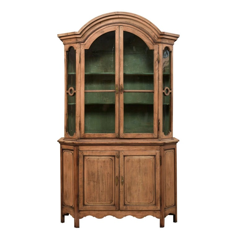 French Early 19th Century Elegant Buffet À Deux-Corps Cabinet with Ample Storage