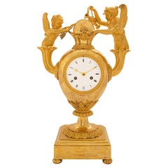 French Early 19th Century First Empire Ormolu Clock