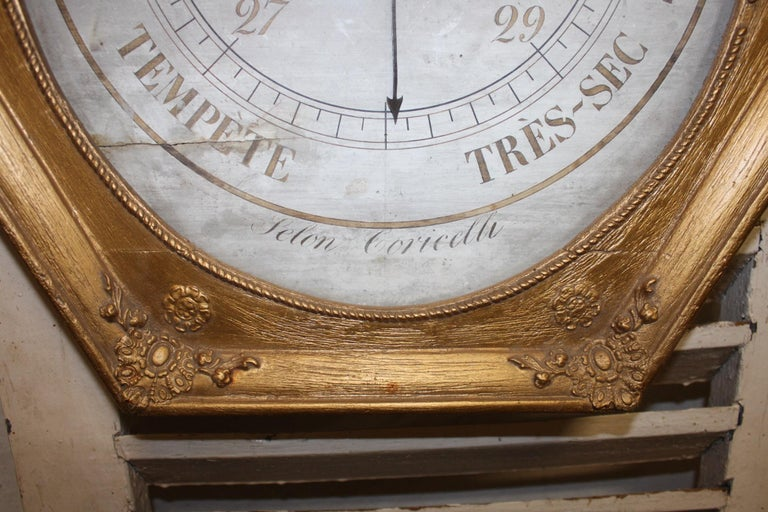 French Early 19th Century Gilt Barometer For Sale 1
