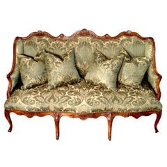 French Early 19th Century Louis XV Style Walnut Canape