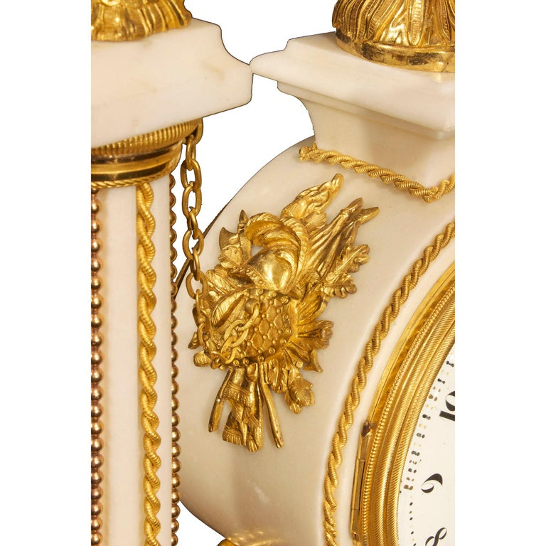 French early 19th century Louis XVI period  clock, signed Simona à Paris For Sale 6