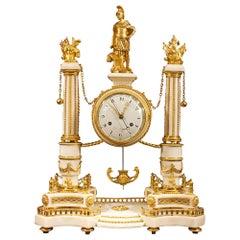 French Early 19th Century Louis XVI Period Clock, Signed Simona À Paris